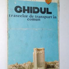 Ghidul traseelor de transport in comun - Bucuresti - ITB - 1982 - Ghid de calatorie