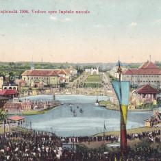 BUCURESTI. EXPOZITIA NATIONALA 1906. VEDERE SPRE LUPTELE NAVALE.