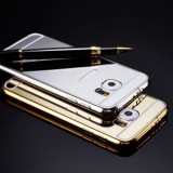 Cumpara ieftin Bumper aluminiu Mirror Case Samsung Galaxy J5 SILVER