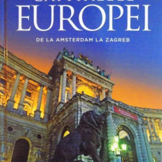 CAPITALELE EUROPEI, DE LA AMSTERDAM LA ZAGREB, 2015 - Carte Geografie