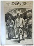 Grafica 15 ianuarie 1876 The Graphic print Wales Ceylon Asia kandieni
