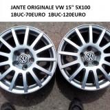 2BUC JANTE ORIGINALE VW 15 5X100