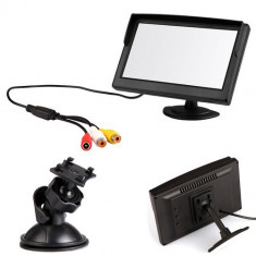 Monitor LCD 5 inch pentru Sistem Supraveghere Video CCTV sau pentru Auto - Monitor supraveghere