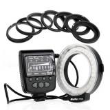 Blitz circular lampa macro Meike FC 100 pentru Canon, Nikon, Sony, Olympus