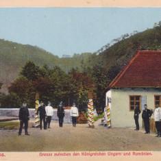 SIBIU, TURNU ROSU, ROTERTURMPASS, FRONTIERA DINTRE UNGARIA SI ROMANIA - Carte Postala Transilvania 1904-1918, Necirculata, Printata