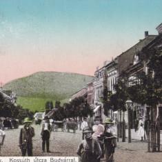 HARGHITA, ODORHEIUL SECUIESC, STRADA ANIMATA, CIRCULATA MAI 1912 - Carte Postala Transilvania 1904-1918, Odorheiu Secuiesc, Printata