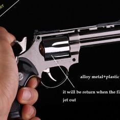 BRICHETA PISTOL. Pistol metal + Teaca. Mecanism functionabli. COLT. PYTON + HUSA - Bricheta Cu Gaz