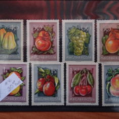 MPDV - Magyar Posta - Timbre Ungaria - Serii 1954 ** nestampilate Fructe