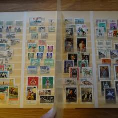 774 Clasor A4 deteriorat cu timbre straine stampilate amestecate