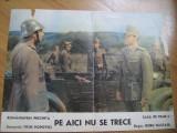 Afis film romanesc (Romaniafilm) / Pe aici nu se trece, Alte tipuri suport, Romana