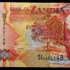 ZAMBIA 50 KWACHA 2007 UNC necirculata **
