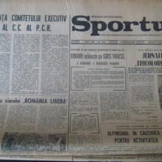 Ziarul Sportul - 31 ianuarie 1973 / jurnalul tricolorilor