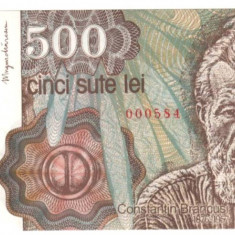 SV * Romania BNR 500 LEI 1991 aprilie FILIGRAN FATA UNC - Bancnota romaneasca