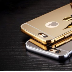 Bumper aluminiu Mirror Case Apple iPhone 6S GOLD - Bumper Telefon