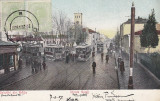 BRAILA   SALUTARI  DIN BRAILA   STR GALATI   INTALNIREA TRAMVAIELOR   CIRC. 1907, Circulata, Printata