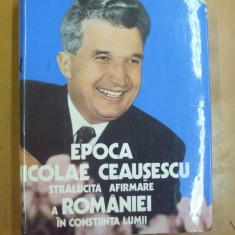 Bucuresti omagiu marelui erou Bucuresti 1988 Nicolae Ceausescu istorie urbanism - Carte Epoca de aur