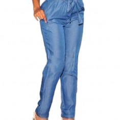 CL558 Pantaloni Harem Style, cu talie inalta si cordon - Pantaloni dama, Marime: M, S/M