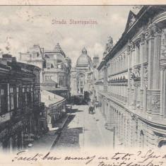 BUCURESTI, STRADA STAVROPOLIOS, CIRCULATA OCT.*902 - Carte Postala Muntenia pana la 1904, Printata