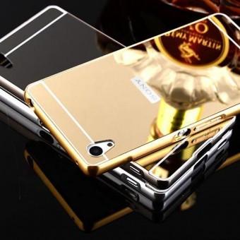Bumper aluminiu Mirror Case Sony Xperia Z5 GOLD foto