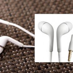 Casti Handsfree In-Ear Alb Audio Stereo cu Microfon, Jack 3.5 C79, Casti In Ear, Cu fir, Mufa 3, 5mm