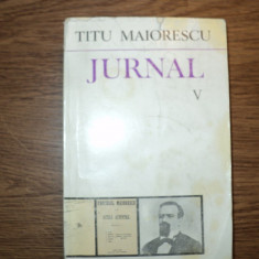 Titu Maiorescu - Jurnal V
