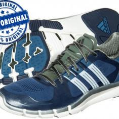 Adidasi barbat Adidas Adipure 360.2 - adidasi originali - running - alergare - Adidasi barbati, Marime: 40 2/3, Culoare: Albastru, Textil