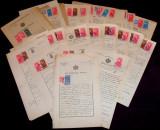 1927-1932 Romania, Lot 117 acte cu Stema Regala si timbre fiscale, notari Oradea