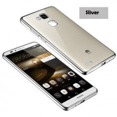 Husa HUAWEI Ascend P8 Lite TPU Margine Silver - Husa Telefon Huawei, Huawei P8, Transparent, Gel TPU, Fara snur, Carcasa
