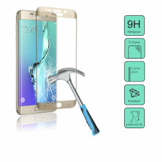 PATONA| Folie sticla securizata CURBATA tempered glass 9H Samsung Galaxy S6 Edge - Folie de protectie PATONA, Anti zgariere