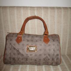 Geanta dama bej cu maro Louis Vuitton+CADOU, Culoare: Din imagine, Marime: Medie, Geanta de umar, Asemanator piele