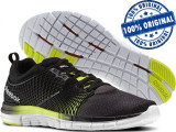 Adidasi barbat Reebok Zquick Dash - adidasi originali - running - alergare, 40, Negru, Textil