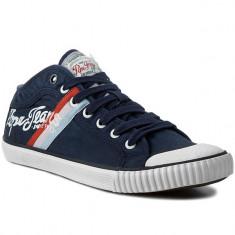 Adidasi PEPE JEANS LONDON Industry Teen nr. 40, 41 si 44, COD 194 - Adidasi barbati Pepe Jeans, Culoare: Albastru, Textil