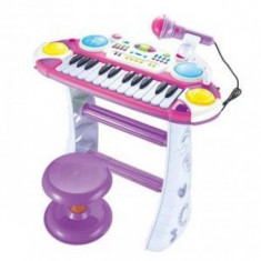 Orga cu scaunel si microfon pentru copii - Instrumente muzicale copii