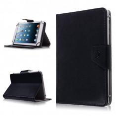 Husa Tableta 7 Inch Model X, Negru, Tip Mapa, Prindere 4 Cleme C88, Universal