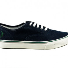 Tenisi FRED PERRY Clarence Navy nr. 39, 40 si 41, InCutie, COD 185 - Tenisi barbati Fred Perry, Culoare: Bleumarin, Textil