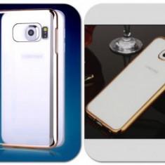Husa silicon Ultra Thin Luxury Apple iPhone 5 / 5S GOLD - Husa Telefon Apple, iPhone 5/5S/SE