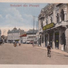 PLOIESTI, SALUTARI DIN PLOIESTI, CIRCULATA AUG.''917 - Carte Postala Muntenia 1904-1918, Printata