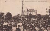 PLOIESTI , MONUMENTUL VANATORILOR, ADUNARE POPULARA , CIRCULATA 1919, Printata
