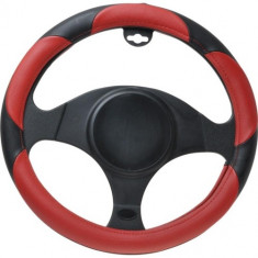 Husa volan PVC Automax, rosu/negru - Husa Auto