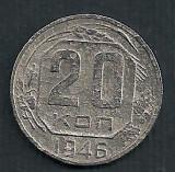 RUSIA URSS 20  COPEICI  KOPEICI  KOPEEK  1946  [5]   livrare in cartonas