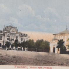 FOCSANI, VEDERE SPRE PRIMARIE, CIRCULATA MAR. ''918 - Carte Postala Moldova 1904-1918, Tip: Printata