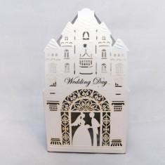 Marturie nunta/botez  Cutiuta cadou carton sidefat marturii cutie  Catedrala