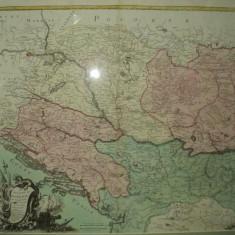 Harta Regatul Ungariei, Transilvaniei, Croatia si Bosnia, 1772 - Harta Romaniei