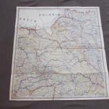 HARTA ROMANIA DE NORD-EST *ZONA CLUJ - COLONEL VICTOR TANASESCU ( 79X75 CM)~1923