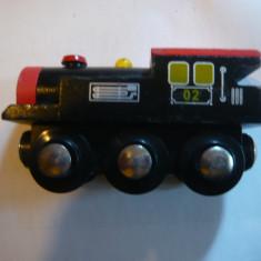 Locomotiva Jucarie din lemn CE, L= 8, 5 cm - Trenulet, Locomotive