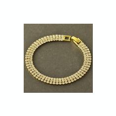 Bratara filata placata aur galben 14k gold filled cu zirconii+saculet cadou - Bratara placate cu aur pandora, Femei