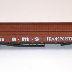 Platforma transport masini marca Faller scara HO(1629) - Macheta Feroviara Faller, 1:87, Vagoane