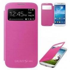 Husa Flip Samsung Galaxy S4 mini i9190 S-View cu Capac spate Rose Roz - Husa Telefon