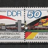 D.D.R.1986 Deschiderea liniei de feribot feroviar cu Lituania-pereche  PP.460