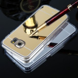 Husa Jelly Case Mirror Samsung Galaxy S6 GOLD